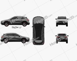 Mercedes-Benz GLA-Klasse AMG-Line Edition 1 2020 car clipart
