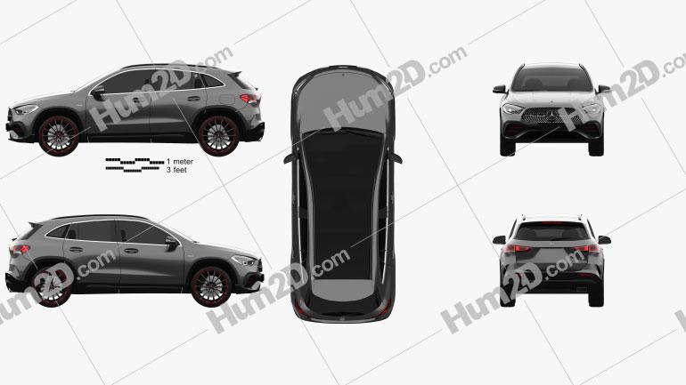 Mercedes-Benz GLA-class AMG-Line Edition 1 2020 car clipart