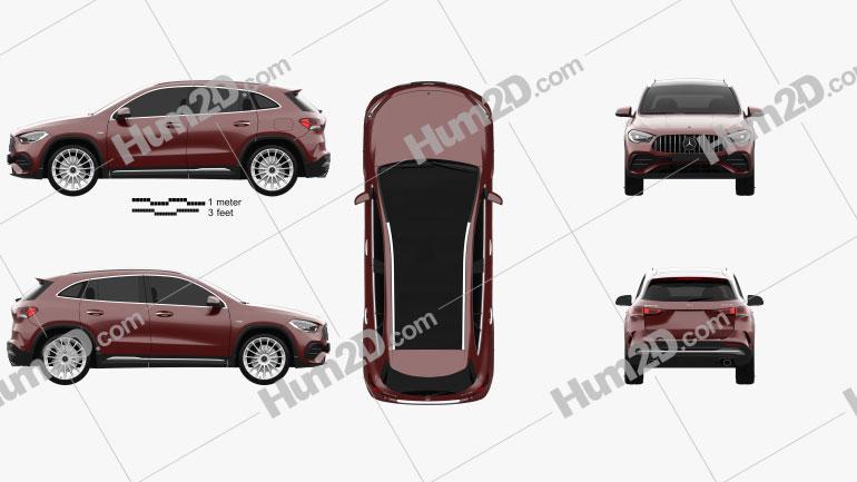 Mercedes-Benz GLA-class AMG 2020 car clipart