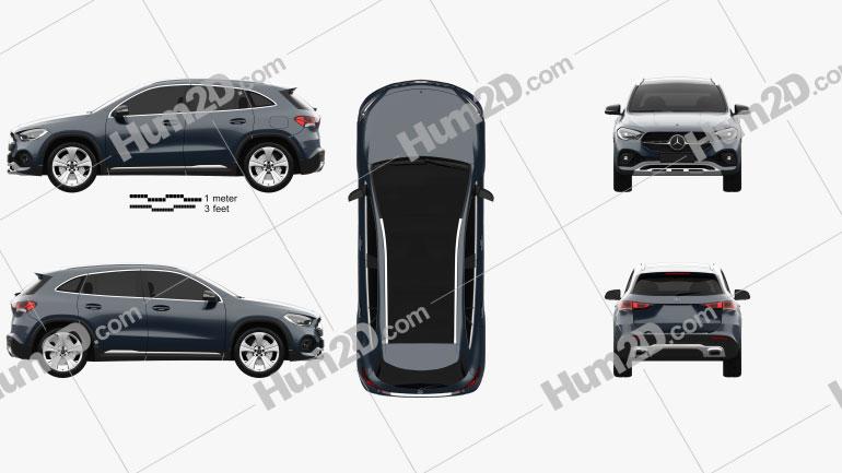 Mercedes-Benz GLA-class Progressive Line Edition 1 2020 car clipart