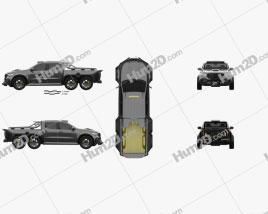 Mercedes-Benz X-Class Carlex EXY Monster X 6X6 2019 car clipart