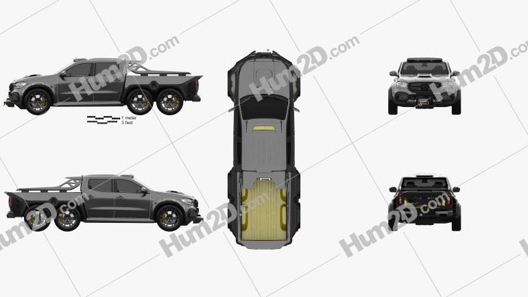 Mercedes-Benz X-Class Carlex EXY Monster X 6X6 2019 Clipart Image