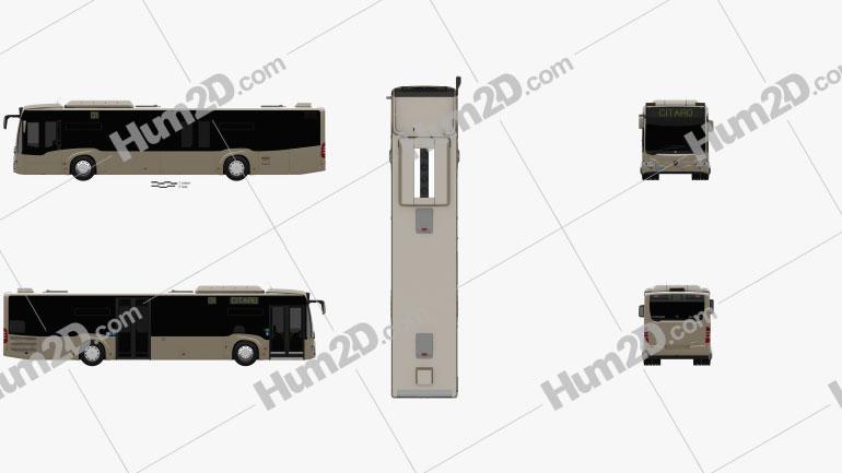 Mercedes-Benz Citaro 2 (O530) Turen Bus 2011 clipart