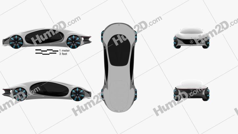 Mercedes-Benz Vision AVTR 2020 Clipart Image