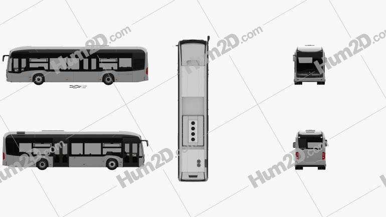 Mercedes-Benz eCitaro Bus 2018 clipart