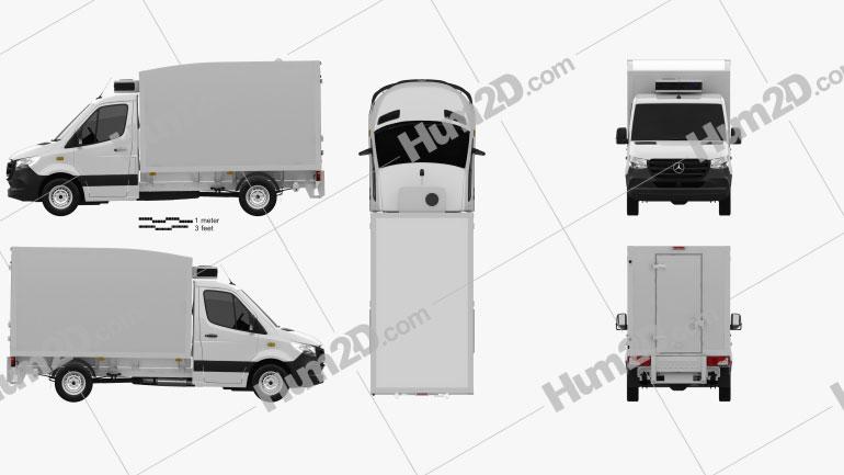 Mercedes-Benz Sprinter Delivery Van 2019 clipart