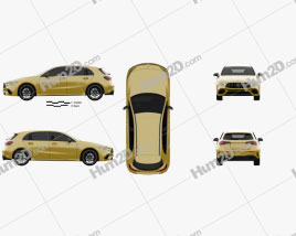 Mercedes-Benz A-class S AMG 2019 car clipart