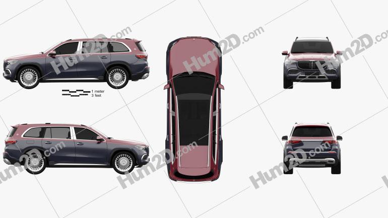 Mercedes-Benz GLS-class Maybach 600 2020 car clipart