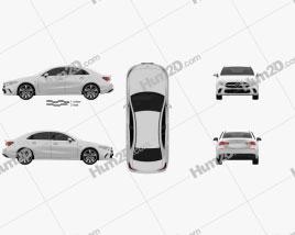 Mercedes-Benz A-class e sedan 2018 car clipart
