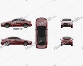 Mercedes-Benz A-class L Sport CN-spec sedan 2018 car clipart