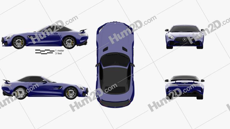 Mercedes-Benz AMG GT R roadster 2016 car clipart