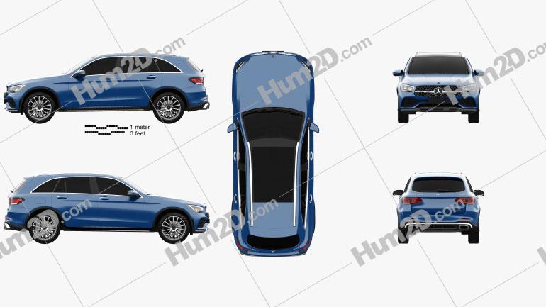 Mercedes-Benz GLC-class L 2019 car clipart