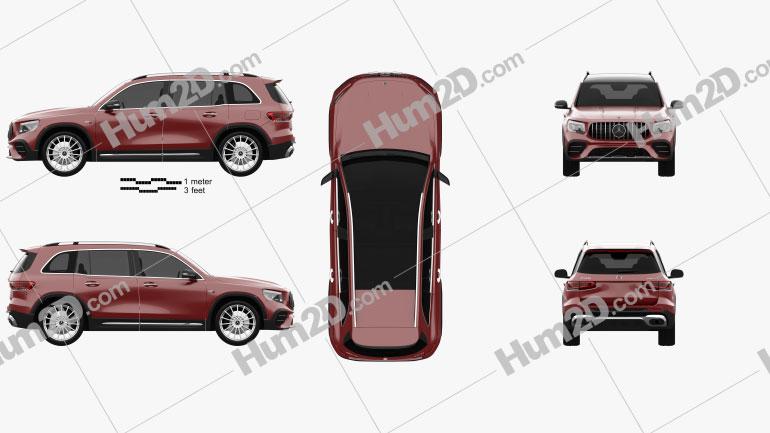 Mercedes-Benz GLB-class AMG 2019 Clipart Image