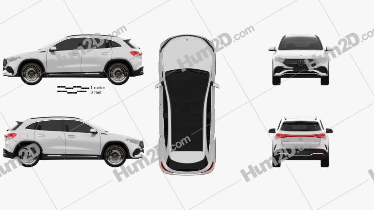 Mercedes-Benz EQA AMG-Line Edition 1 2021 car clipart