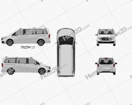 Mercedes-Benz EQV 2021 clipart