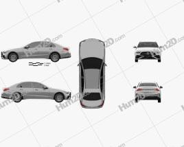 Mercedes-Benz C-class AMG-Line sedan 2021 car clipart