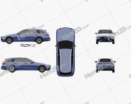 Mercedes-Benz C-class AMG-Line estate 2021 car clipart