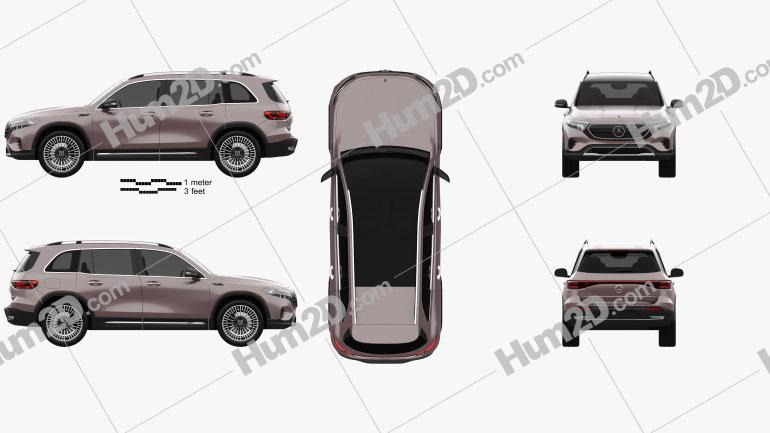 Mercedes-Benz EQB 2021 car clipart