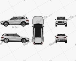 Mercedes-Benz EQB AMG 2021 car clipart