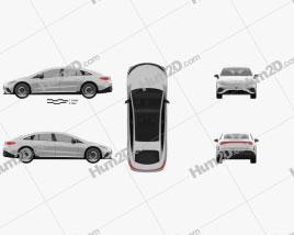 Mercedes-Benz EQS AMG-Line 2021 car clipart