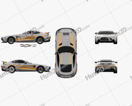 Mercedes-Benz AMG GT4 2020 car clipart