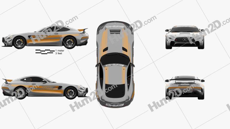 Mercedes-Benz AMG GT4 2020 Imagem Clipart