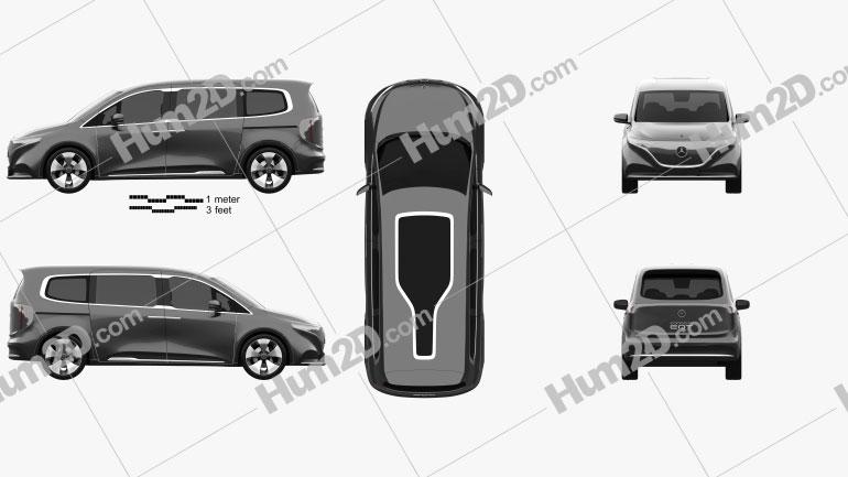 Mercedes-Benz EQT 2021 Clipart Image