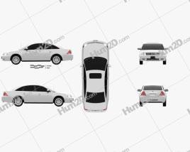 Mercury Montego 2007 car clipart
