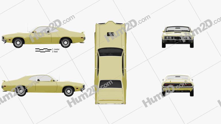 Mercury Montego Coupe 1970 car clipart