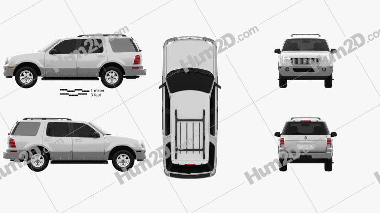 Mercury Mountaineer 2001 car clipart
