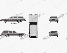 Mercury Marquis Colony Park 1981 car clipart