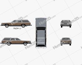 Mercury Grand Marquis Colony Park 1988 car clipart