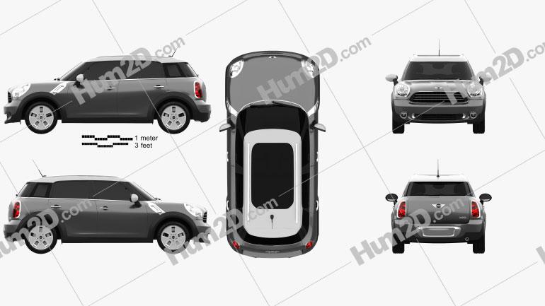 Mini Countryman 2011 car clipart