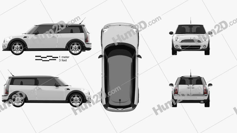 Mini Cooper clubman 2011 car clipart