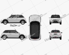 Mini Cooper convertible 2011 car clipart