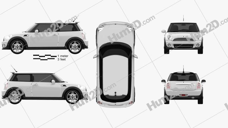 Mini Cooper 2011 car clipart