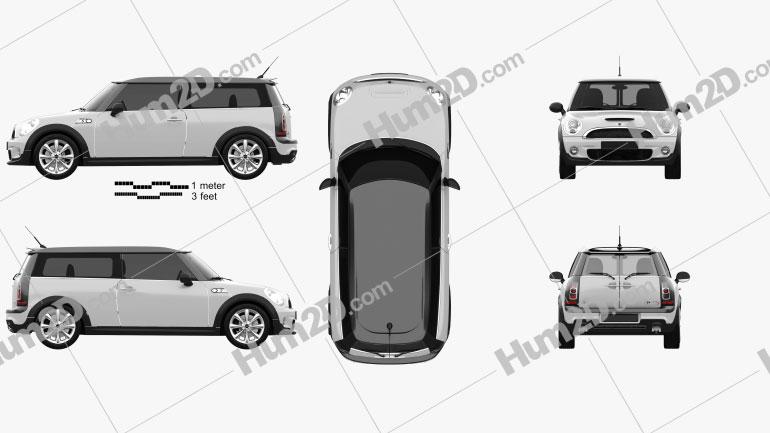 Mini Cooper S Clubman 2011 car clipart