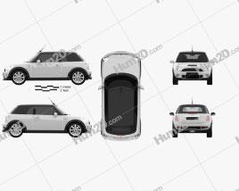 Mini Cooper S Convertible 2011 car clipart