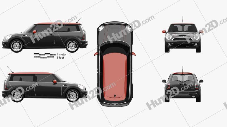 Mini John Cooper Works Clubman 2011 car clipart