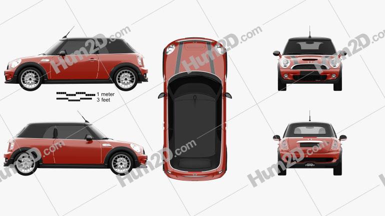 Mini John Cooper Works Convertible 2011 car clipart