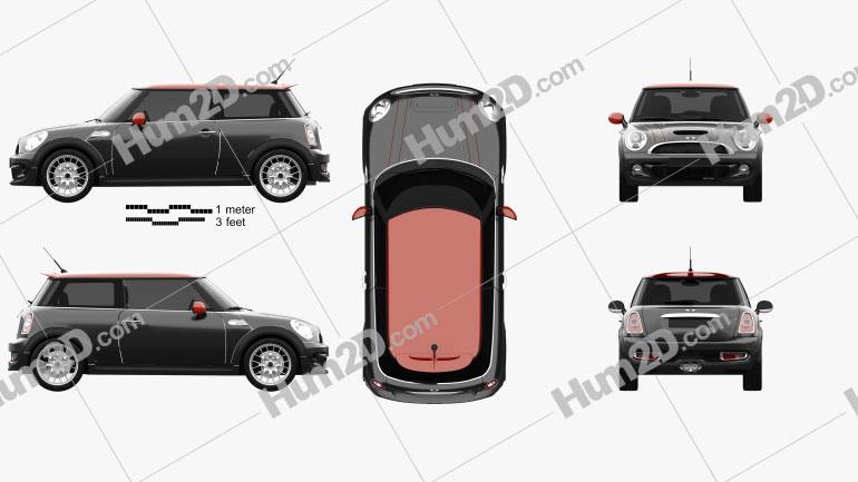 Mini John Cooper Works 2011 car clipart