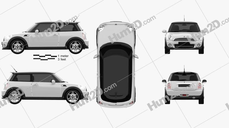 Mini One Hardtop 2011 car clipart