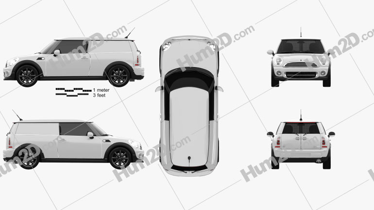 Mini Clubvan 2013 car clipart