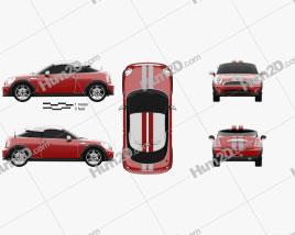 Mini Cooper coupe 2013 car clipart