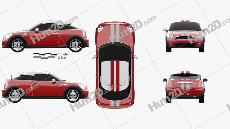 Mini Cooper coupe 2013 Clipart Image