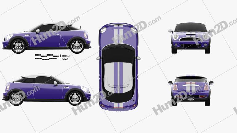 Mini Cooper S coupe 2013 Imagem Clipart