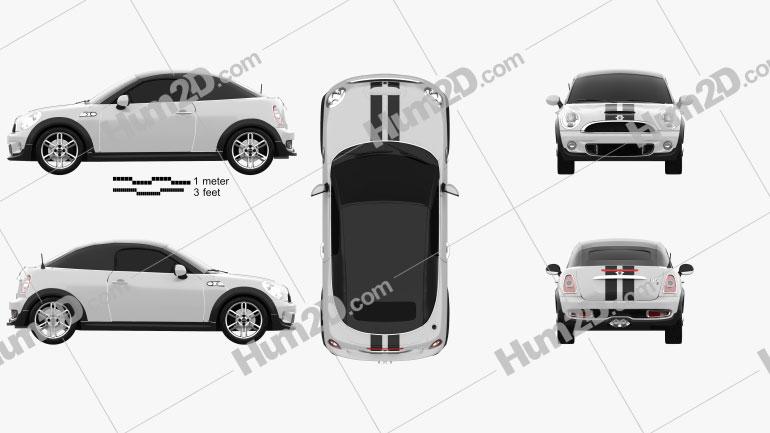Mini Cooper S roadster 2013 car clipart