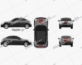 Mini John Cooper Works roadster 2013 car clipart