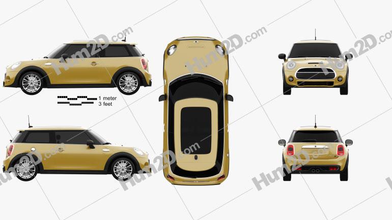 Mini Cooper S 2014 car clipart