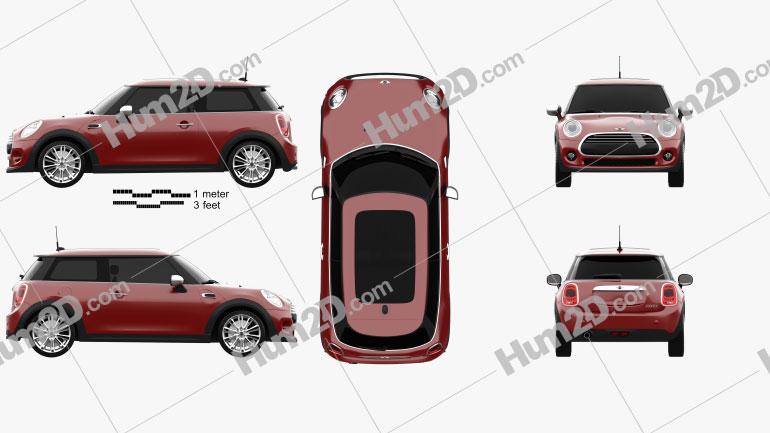 Mini Cooper hardtop 2014 car clipart